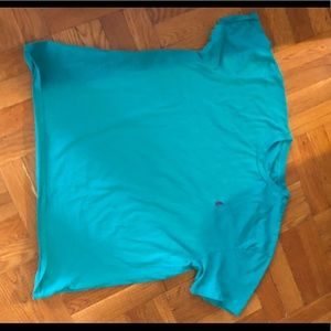 Teal polo T-shirt